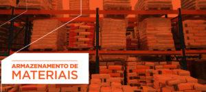 Armazenamento de materiais no canteiro de obras